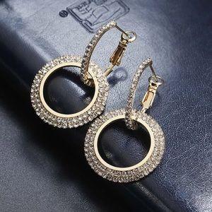 Stunning Classic Crystal Geometric Dangle Earrings